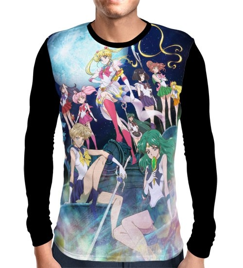 Camisa Manga Longa Crystal - Sailor Moon