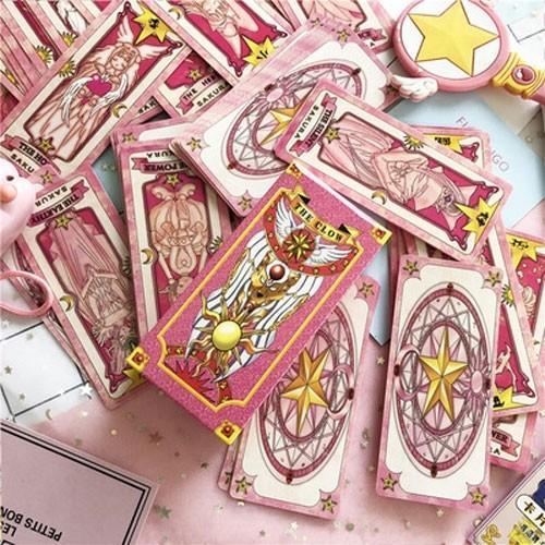 Kit Sakura Cartas Clow (ROSA) - Premium