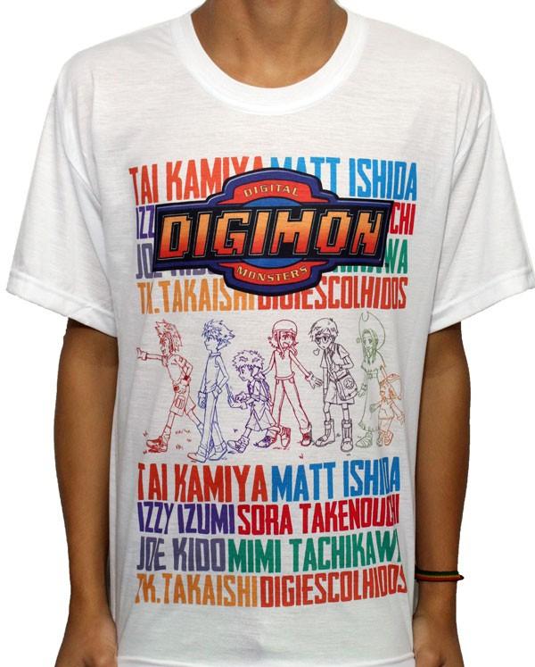 Camisa SB Digimon - Digimon Adventure