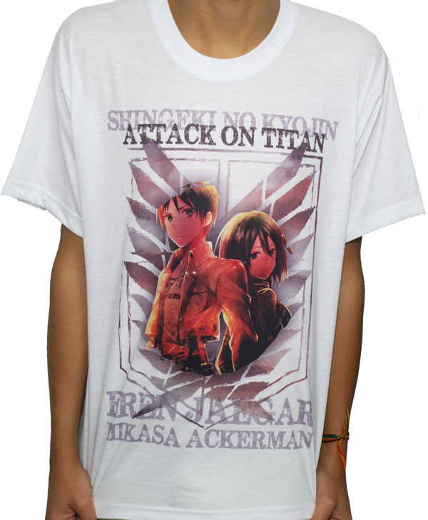 Camisa SB Eren e Mikasa - Attack on Titan