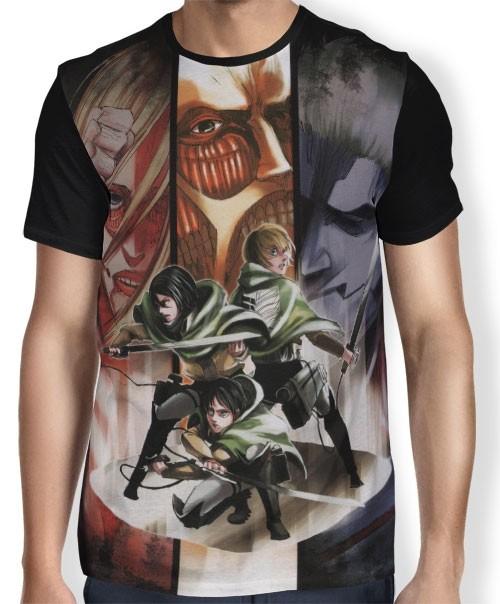 Camisa FULL Tropa x Titãs - Shingeki no Kyojin