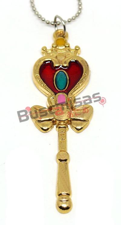 SLM-06 - Colar Spiral Heart Moon Rod - Sailor Moon