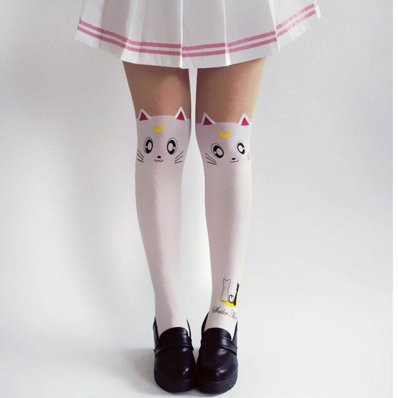Meia Calça Gatinho Artemis - Sailor Moon
