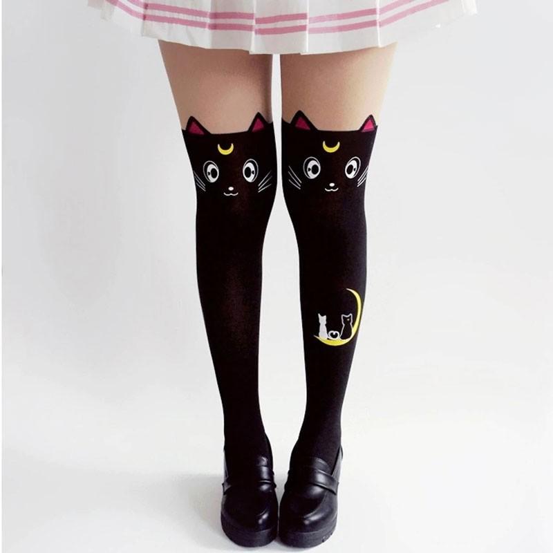 Meia Calça Gatinho Lua - Sailor Moon