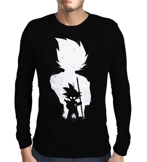 Camisa Manga Longa Fases Son Goku - Dragon Ball