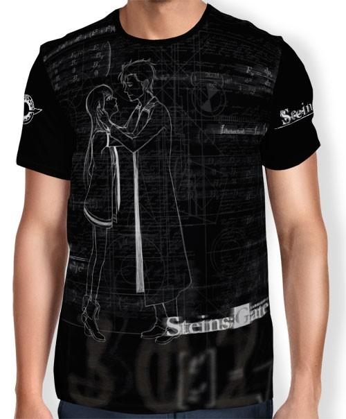 Camisa FULL Print Dark Calculations - Steins Gate