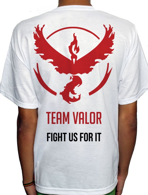 Camisa SB - TEAM VALOR - Pokemon GO