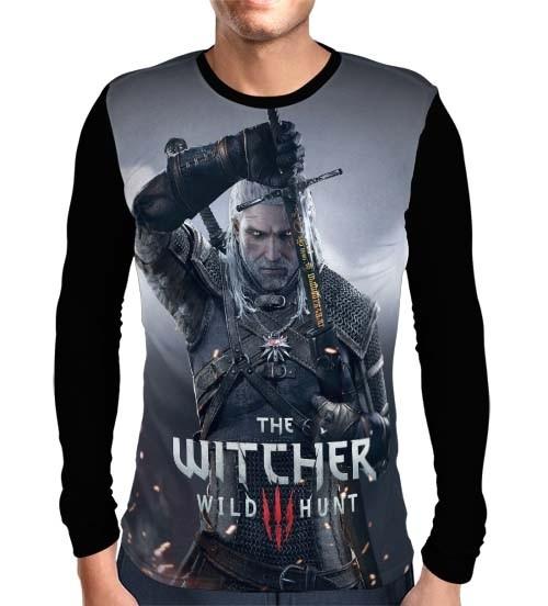 Camisa Manga Longa The Witcher 3 - Geralt de Rivia
