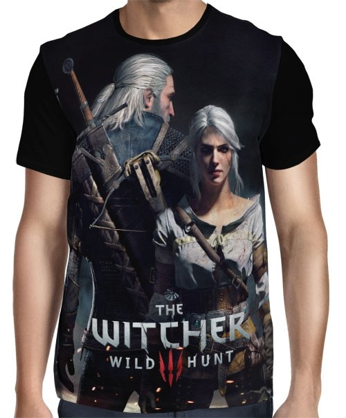 Camisa FULL  Ciri e Geralt - The Witcher 3