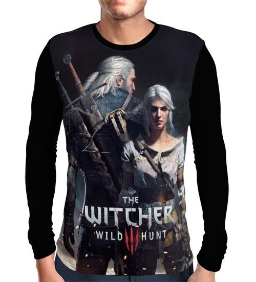 Camisa Manga Longa Ciri e Geralt - The Witcher 3