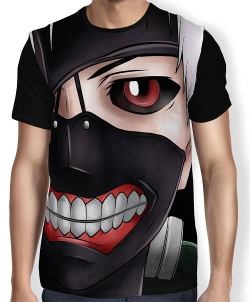 Camisa FULL Color Face Kaneki - Tokyo Ghoul