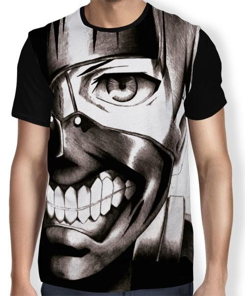 Camisa FULL Dark Face Kaneki - Tokyo Ghoul