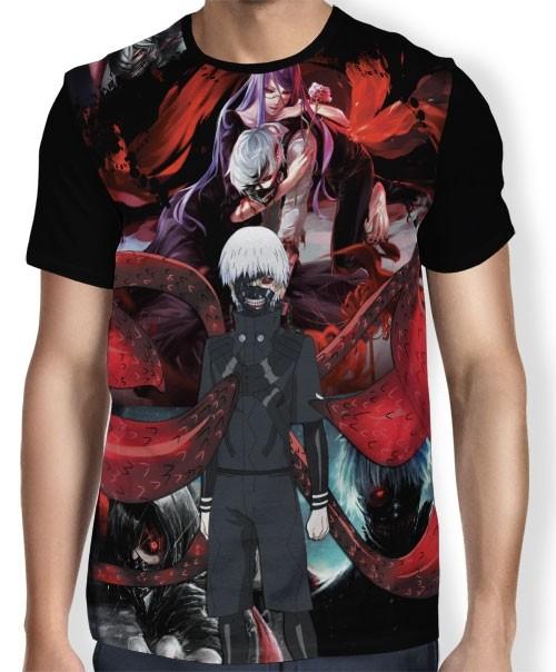 Camisa FULL Dark Kaneki - Tokyo Ghoul