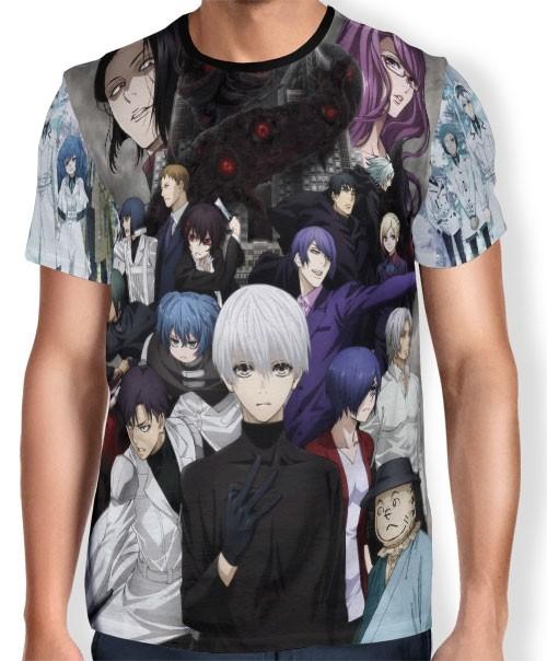 Camisa Full Print - Tokyo Ghoul: RE