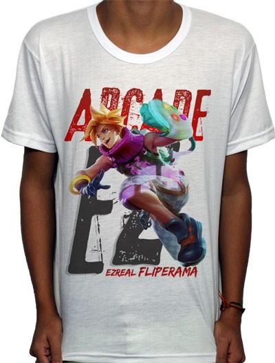 Camisa SB - TN Arcade Ezreal - League Of Legends