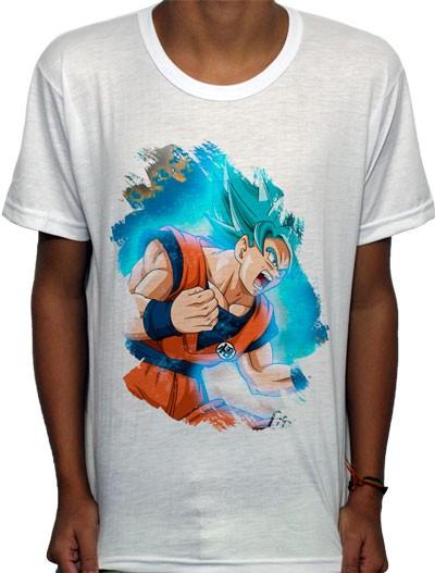 Camisa SB - TN Brusher God Blue Goku - Dragon Ball Super