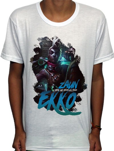 Camisa SB - TN Ekko - League Of Legends