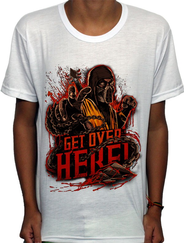 Camisa SB - TN Get Over here - Mortal Kombat