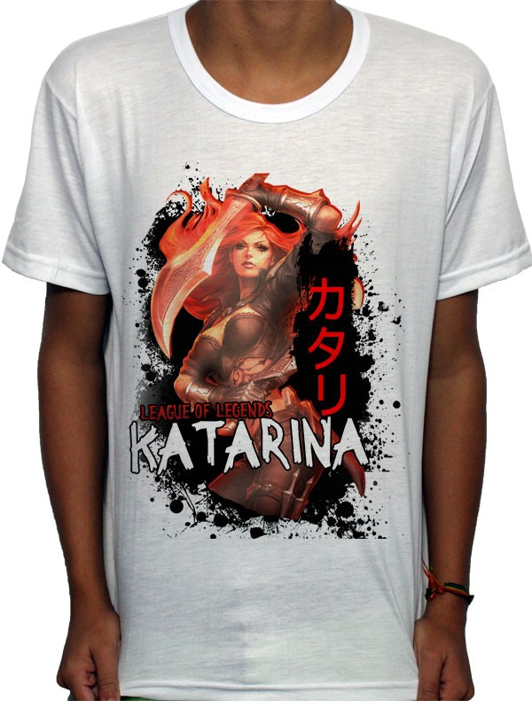 Camisa SB - TN Katarina - League Of Legends