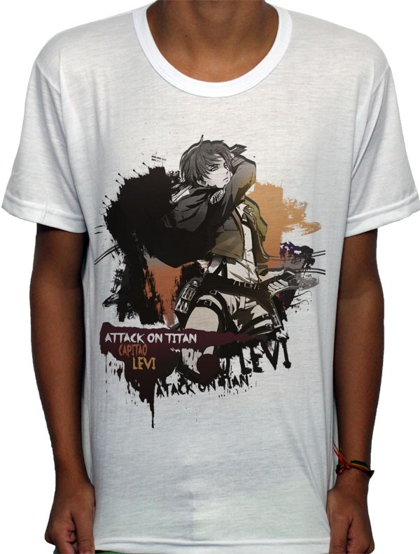 Camisa SB - TN Brusher Levi - Attack on Titan