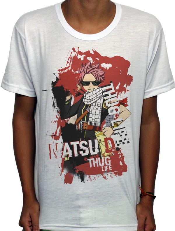 Camisa SB - TN Natsu Thug Life - Fairy Tail