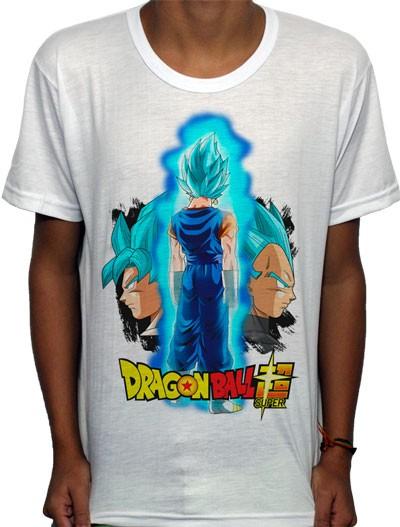 Camisa SB - TN Saiyan God Vegetto Blue - Dragon Ball Super