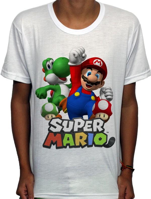 Camisa SB - TN Mario e Yoshi - Super Mario