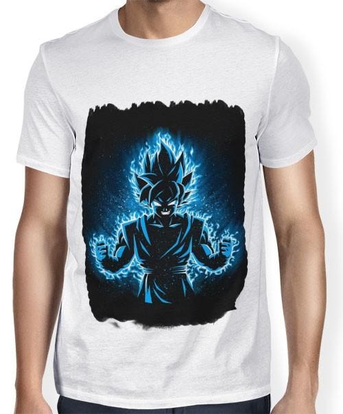 Camisa SB - TN Moldura Goku SSJ Blue - Dragon Ball Super
