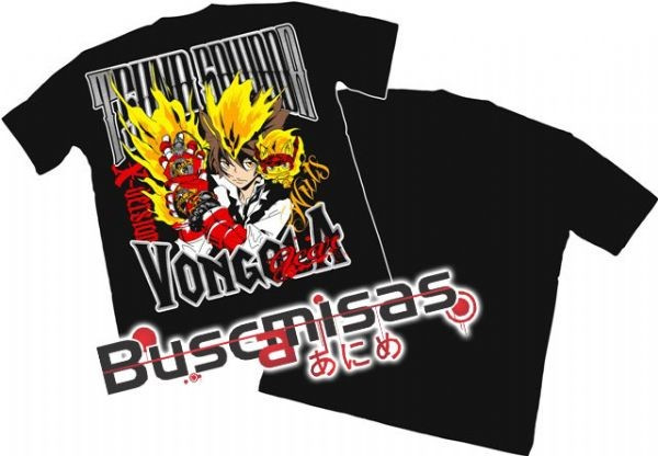 Camisa Hitman Reborn - Tsuna Vongola Gear modelo 04