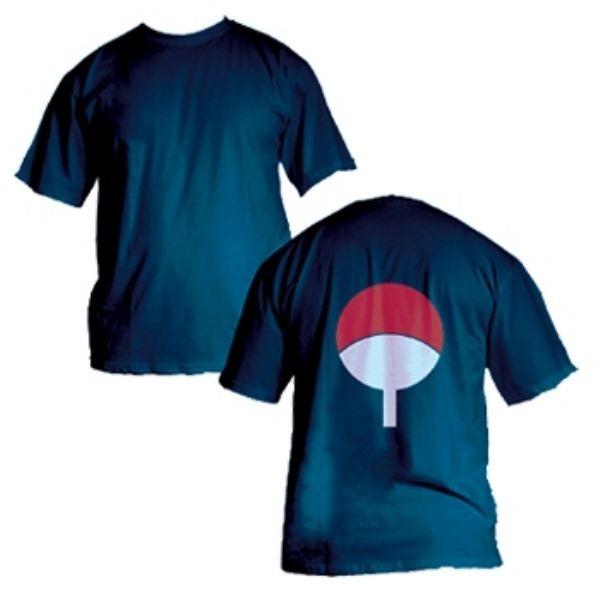Camisa Naruto - Clã Uchiha - azul Marinho