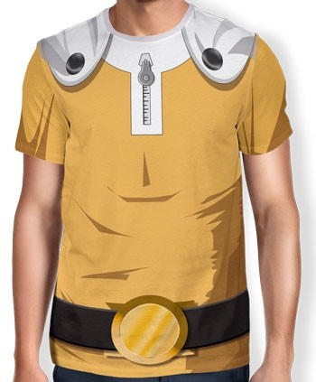 Camisa Full Print Uniforme - Saitama - One Punch Man