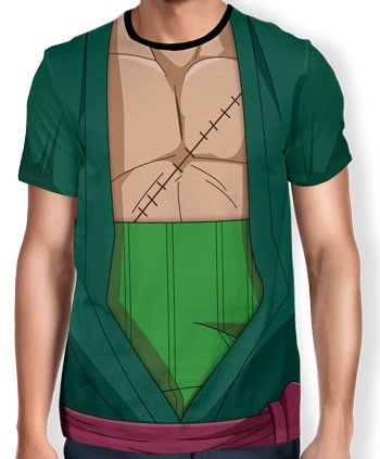 Camisa Full Print Uniforme - Zoro - One Piece