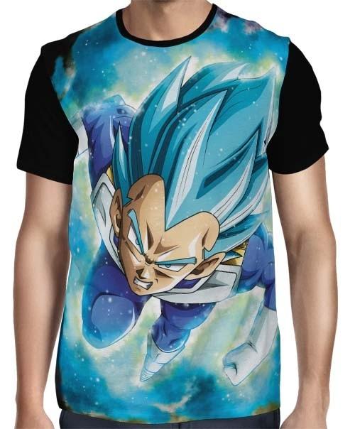 Camisa Full Face Blue God Vegeta - Dragon Ball Super