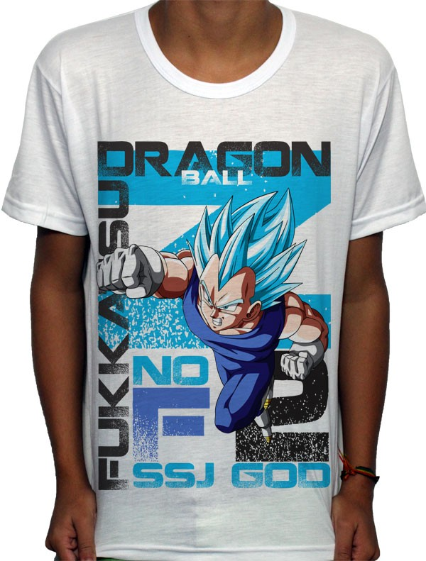 Camisa SB Vegeta God 2 - Dragon Ball Z