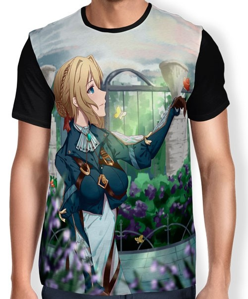 Camisa Full Rosas - Violet Evergarden
