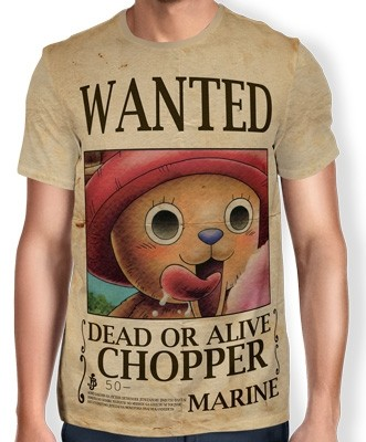 Camisa Full Print Wanted Chopper V1 - One Piece