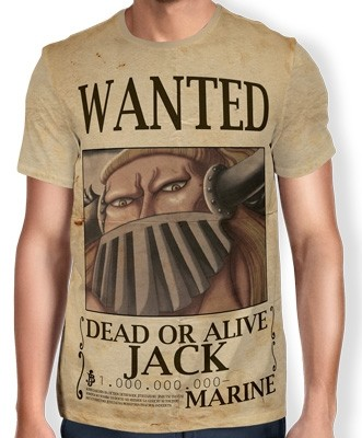Camisa Full Print Wanted Jack - One Piece