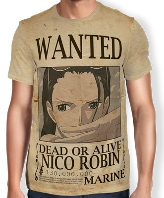 Camisa Full Print Wanted Nico Robin V2 - One Piece