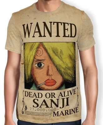 Camisa Full Print Wanted Sanji V1 - One Piece