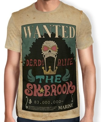 Camisa Full Print Wanted THE SOUL KING BROOK - One Piece