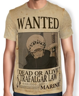 Camisa Full Print Wanted Trafalgar Law V1 - One Piece