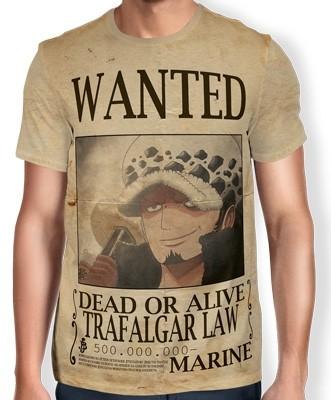 Camisa Full Print Wanted Trafalgar Law V2 - One Piece