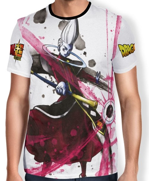 Camisa Full Art Brusher WHIS - Dragon Ball Super