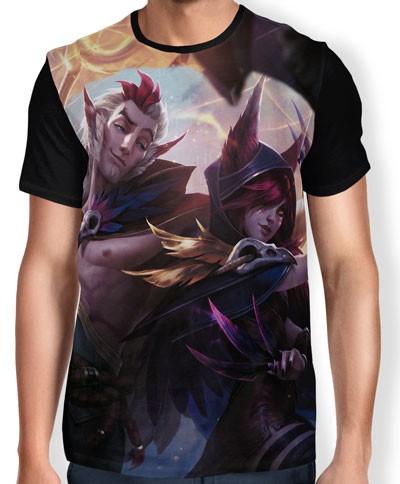 Camisa FULL Rakan e Xayah - League of Legends