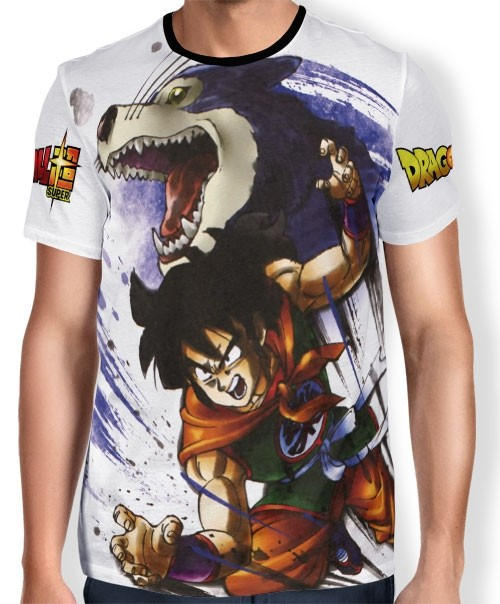 Camisa Full Art Brusher Yamcha - Dragon Ball Super