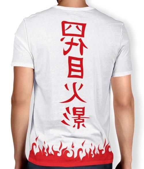 Camisa Naruto - Yondaime hokage Minato BRANCA