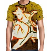 Camisa Full Print Color Mangá Premium - Minato Chakra Kurama - Naruto