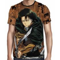 Camisa Attack on Titan Levi Ackerman Exclusiva shingeki no kyojin Full Print