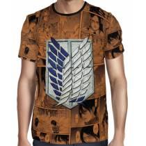 Camisa Attack on Titan Shingeki No Kyojin Logo Tropa de Exploração Full Print