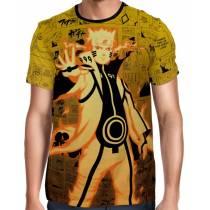 Camisa Full Print Color Mangá Premium - Naruto Chakra Mode Modelo 02 - Naruto